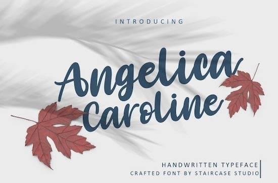free Angelica Caroline font
