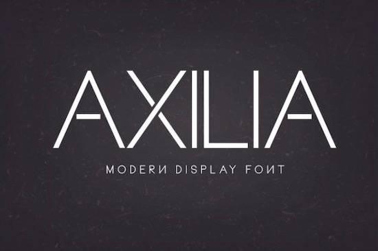 Axilia font free download
