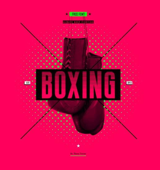 BOXING Font free download