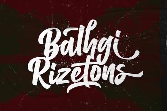 free Balhgi Rizetons font