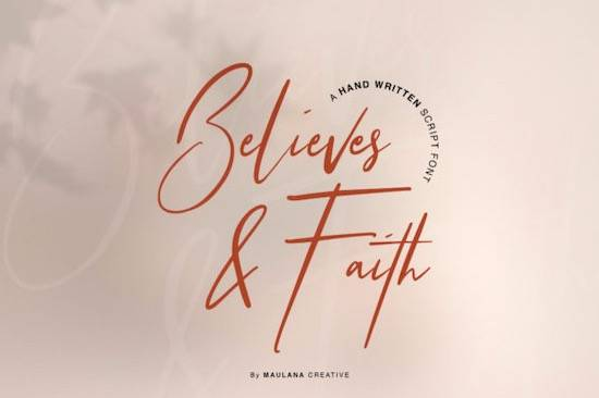 Believes And Faith font free download