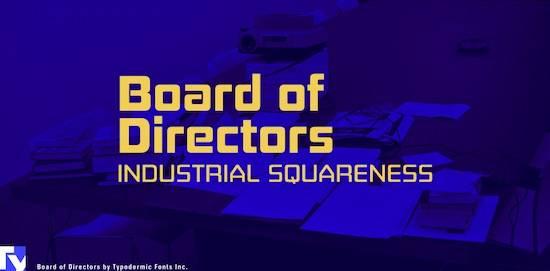 Board of Directors Masculine font free