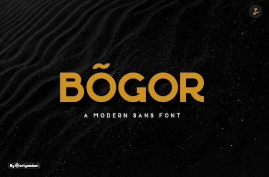 Bogor font free download