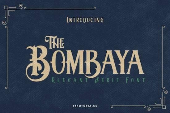 Bombaya font free download