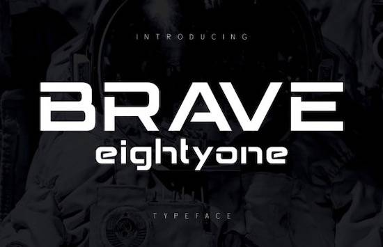 Brave Eighty One font free download