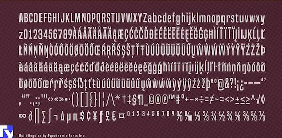 Built Masculine font