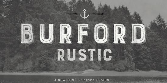 Burford Rustic font free download