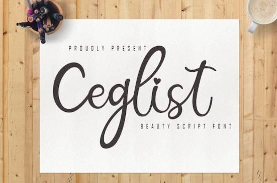 Ceglist font free download