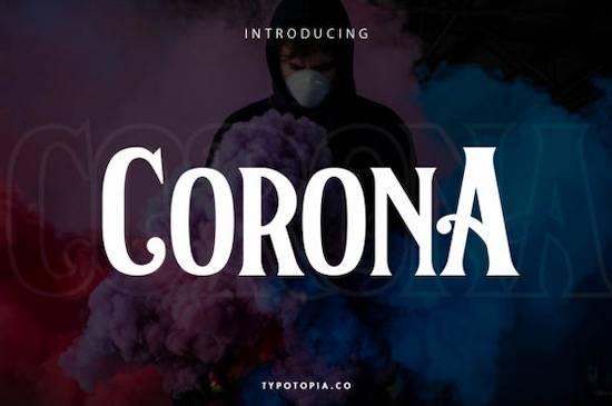 Corona font free download