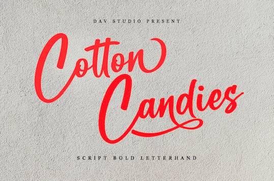 Cotton Candies font free download