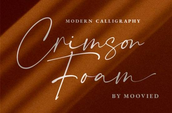 Crimson Foam font free download