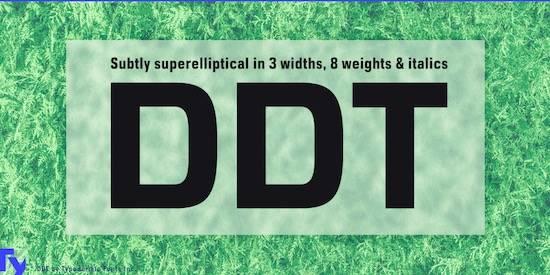 DDT font
