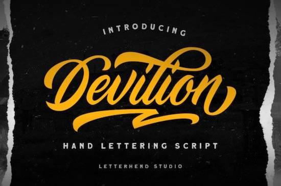 Devilion font free download
