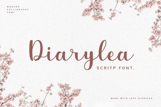 Diarylea font free download
