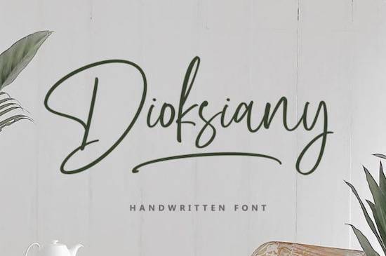 Dioksiany font free download