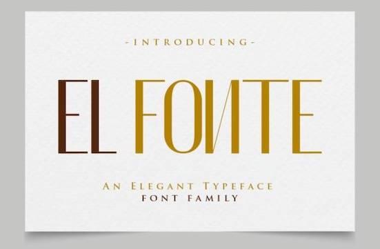 El Fonte font free downloawd