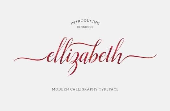 Elizabeth calligraphy font