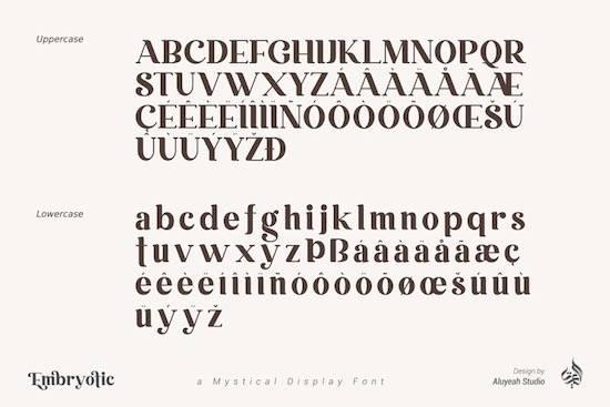 Embryotic Font download