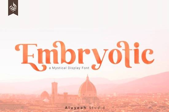 Embryotic Font free download