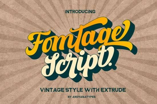 Fomtage Script font free download