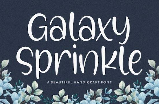 Galaxy Sprinkle font download