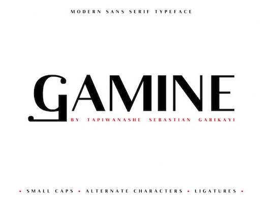Gamine font free download