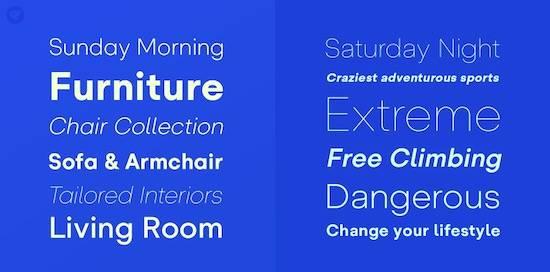 Glence font