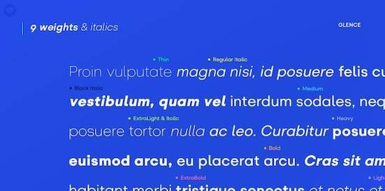 Glence font download