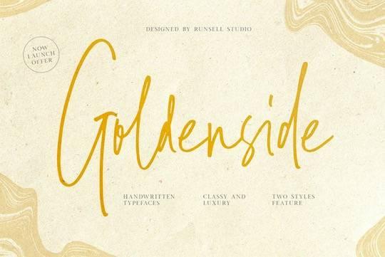 Goldenside font free download
