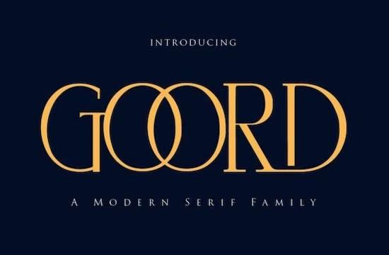Goord font free download