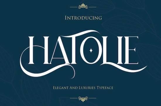 Hatolie font free download