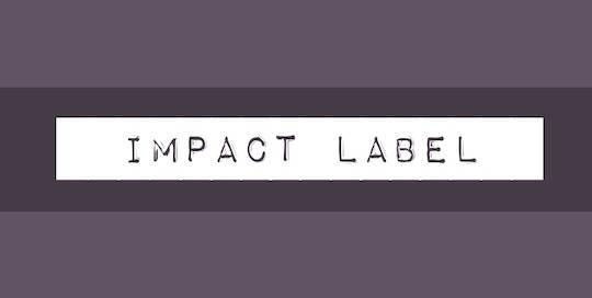 Impact Label font free