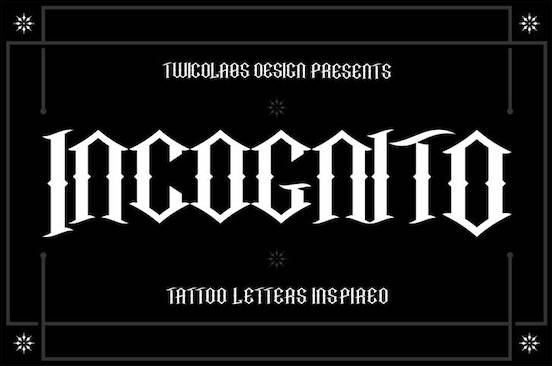 Incognito Font free download