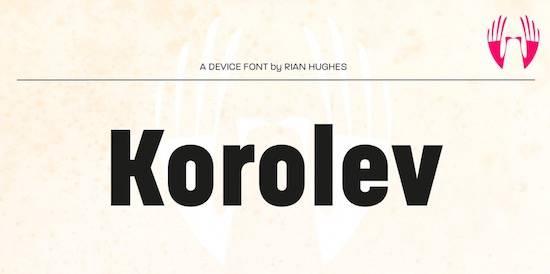 Korolev font