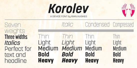 Korolev font free download