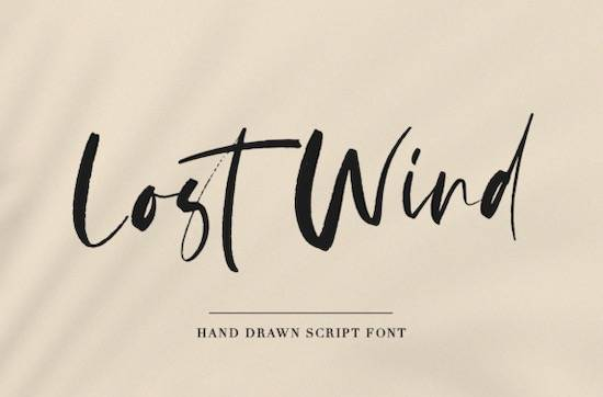 Lost Wind font free download