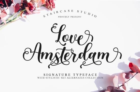 Love Amsterdam font free download