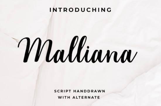 Malliana Font free download