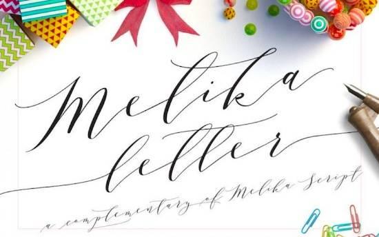 Melika Letter font free download