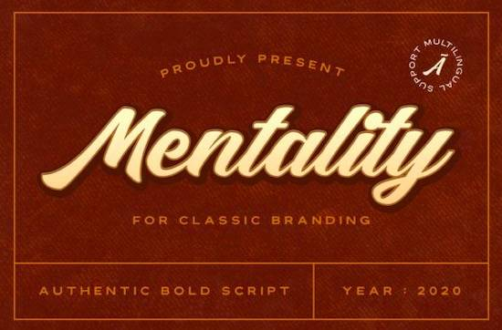 Mentality font free download