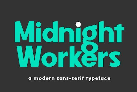Midnight Workers font free download