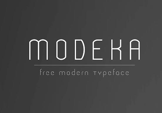 free Modeka font