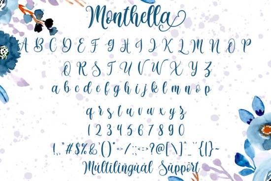 Monthella font free