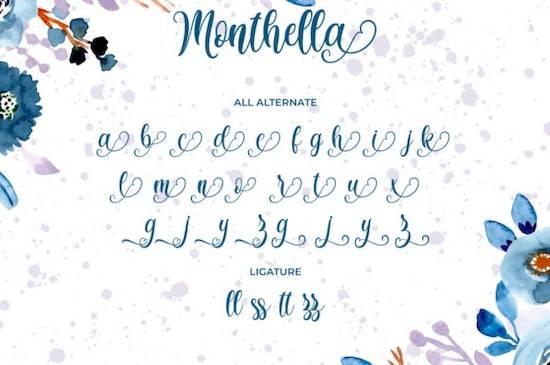 Monthella font