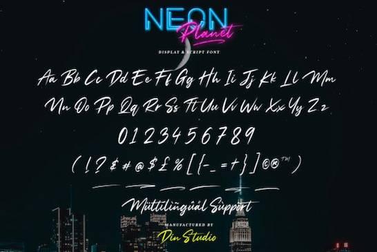 Neon Planet Font free