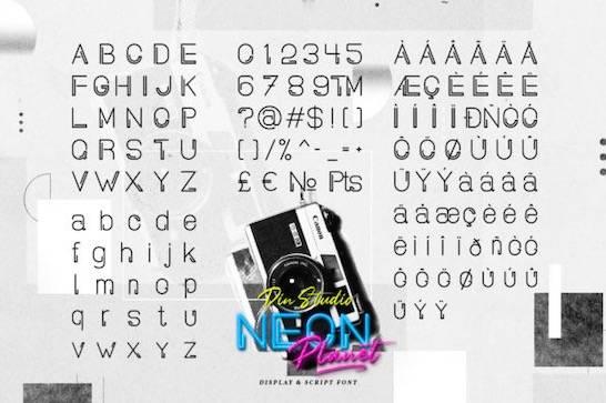 Neon Planet Font download