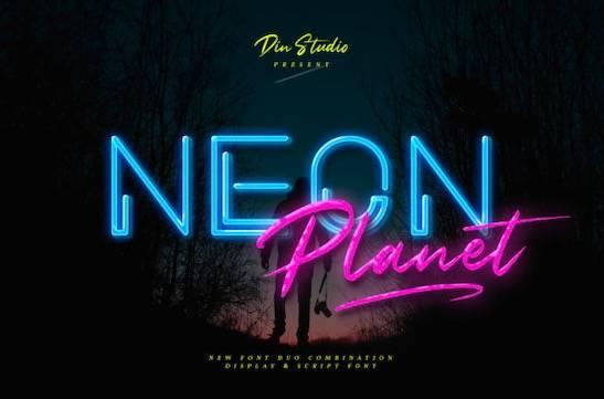 Neon Planet Font free download