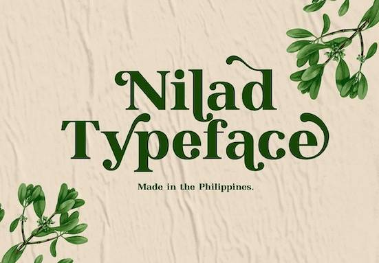 Nilad regular font