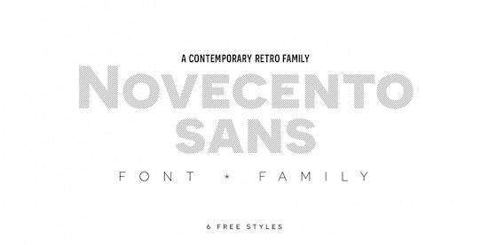 Novecento font free download