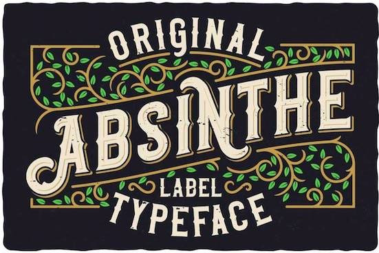 Preview Original Absinthe font free download